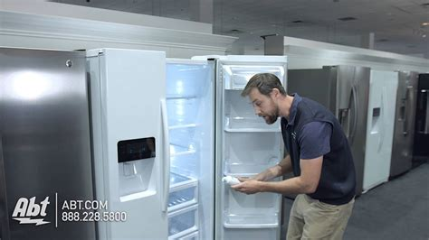 replace  water filter   samsung refrigerator  filter model haf cin youtube
