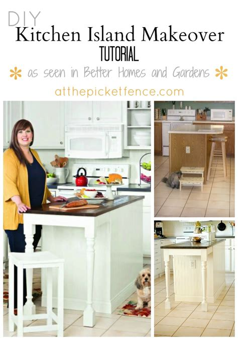 kitchen island makeover kitchen island makeover tutorial at the picket fence