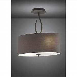 Mantra m lua semi ceiling light ash grey