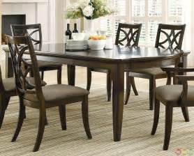 contemporary dining room sets meredith contemporary 7 dining room table and chairs set espresso finish