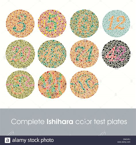complete color blindness ishihara test stock photos ishihara test stock images
