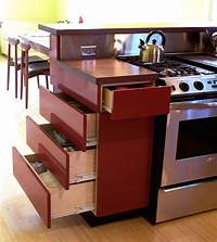 narrow kitchen cabinets Better use of narrow cabinet sections. Wish I had thought ...