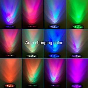 Outdoor led solar spotlight wall light multi color