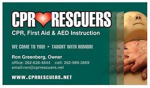 The sign shop of racine business cards for Cpr instructor business cards