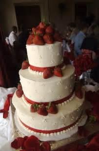 White Wedding Cake with Strawberries