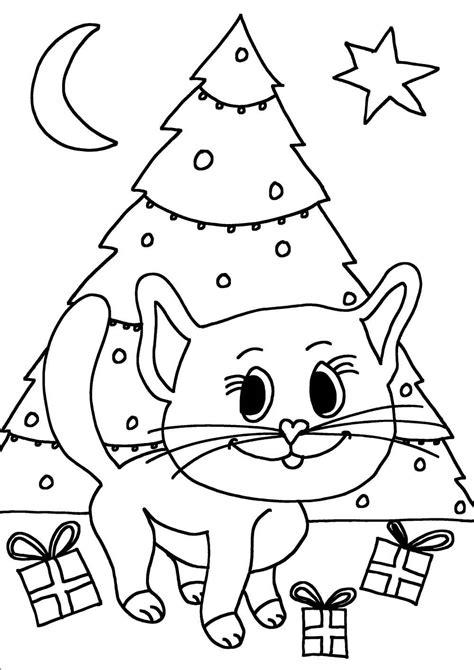 Tafelkleed Kleurplaat Kerst by Kleurplaat Poes Kerst Ik Wil Een Poes Nl