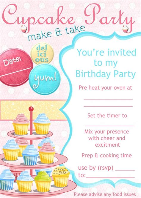 cupcake decorating party invitation putting   party