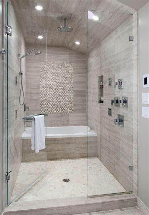 contemporary master bathroom  waterfall series