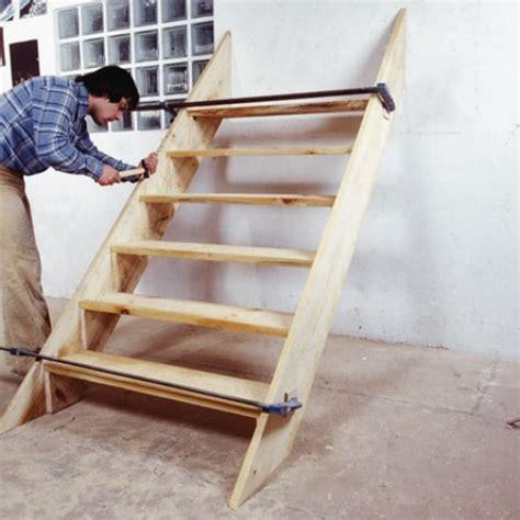 fabrication d un escalier ext 233 rieur en bois syst 232 me d