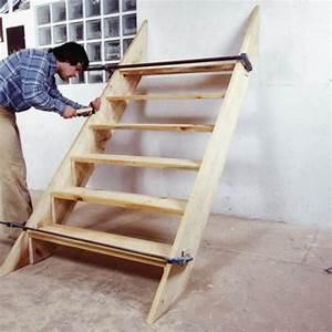 fabrication d39un escalier exterieur en bois With construire escalier exterieur bois