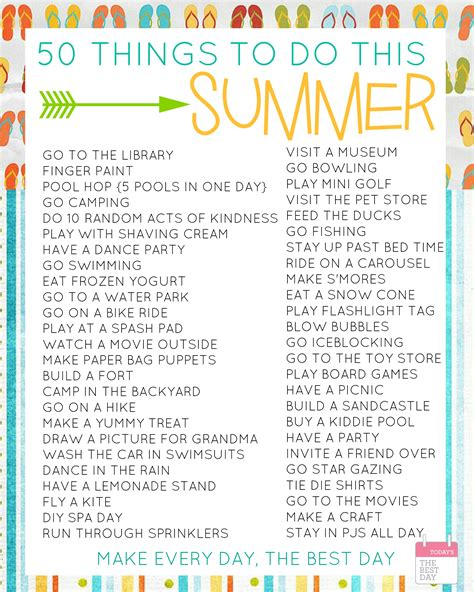 top 28 things that are top 28 things to do in summer 50 things to do this summer with free printable bucket