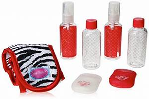 bath accessories carry on in style travel set zebra With carry on bathroom items
