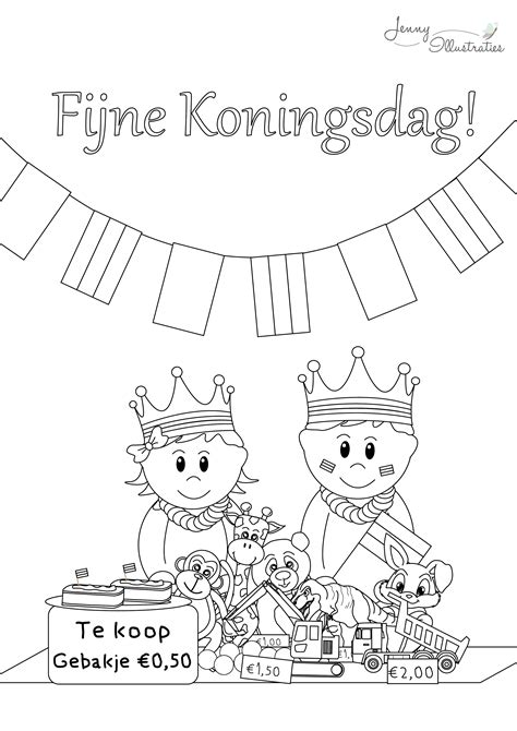 Koningsdag Kleurplaat by Koningsdag Kleurplaat Freebies Gratis Kleurplaten