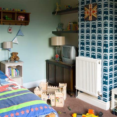 Boy Bedroom Decorating Ideas Uk by Boys Bedroom With Feature Wallpaper Boys Bedroom Ideas