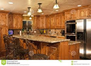 new kitchen island new home kitchen with island royalty free stock