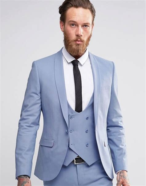 latest coat pant designs light blue men suit double