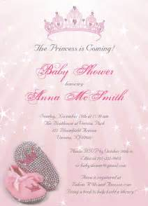 Princess Baby Shower Invitations for Girls
