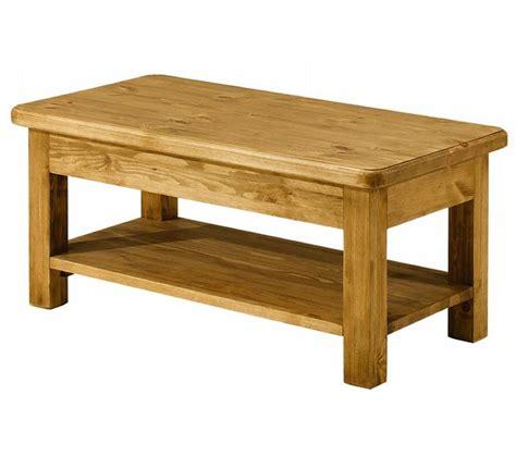 Petite Table Basse Pin Massif Ciré 1495