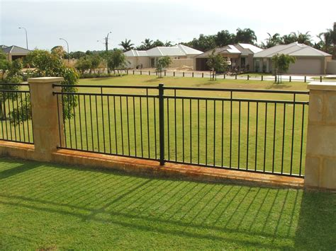 fence design aluminium garden fence design ideas home trendy