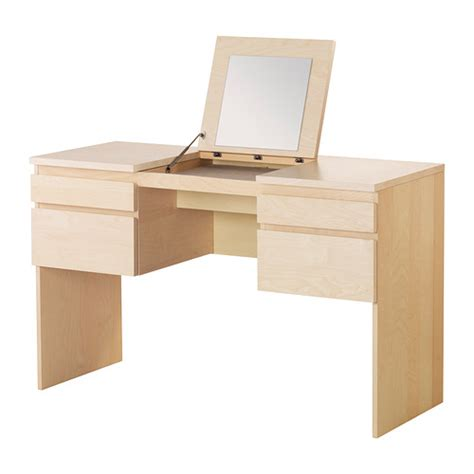 ikea dressing table mirror ransby dressing table with mirror birch veneer ikea