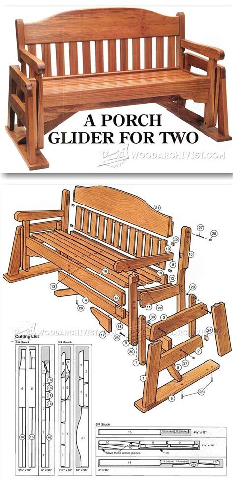 porch glider plans outdoor furniture plans projects