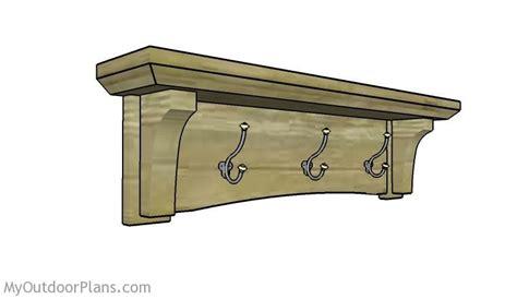wall mounted coat rack plans furniture pinterest
