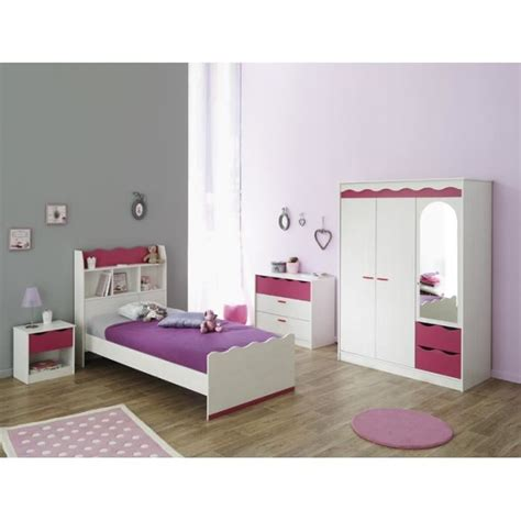 ensemble chambre fille lilou chambre enfant décor pin et achat vente