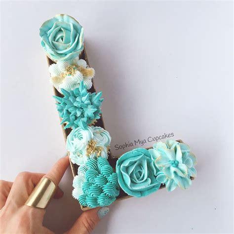 floral monogram cupcakes concept design  sophia mya