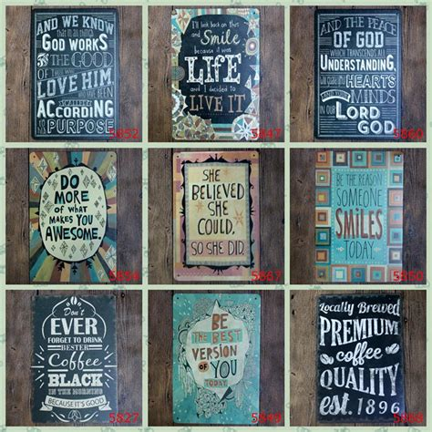 quotations of inspirational vintage metal signs metal wall plaques plaque metal decorative