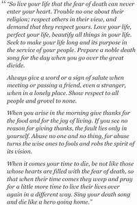 Tecumseh Poem - Act of Valor | Words to Live By ...