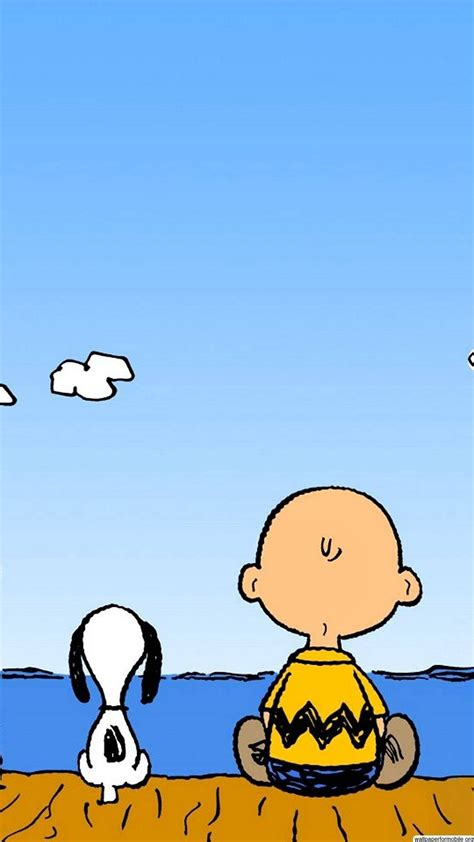 Peanuts Charlie Brown and Snoopy Wallpaper