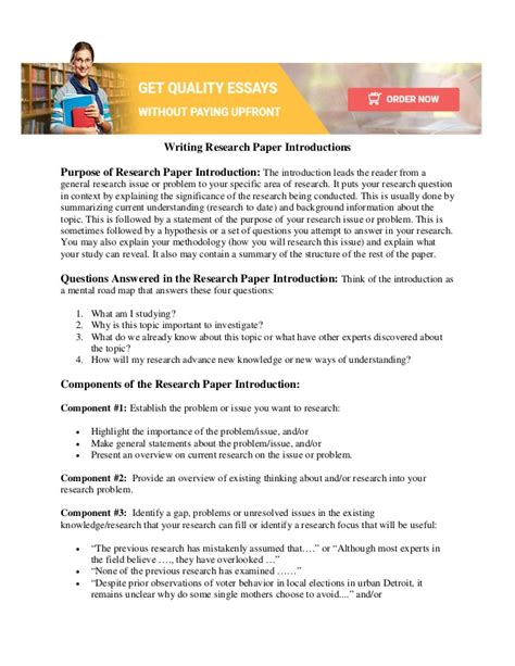 Intro To Writing A Paper by How To Make A Research Introduction How To Write An