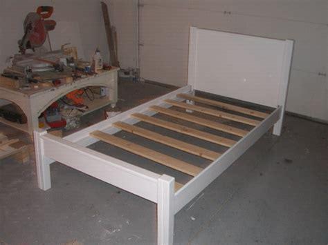 make a bed frame building a twin bed frame furniture u build