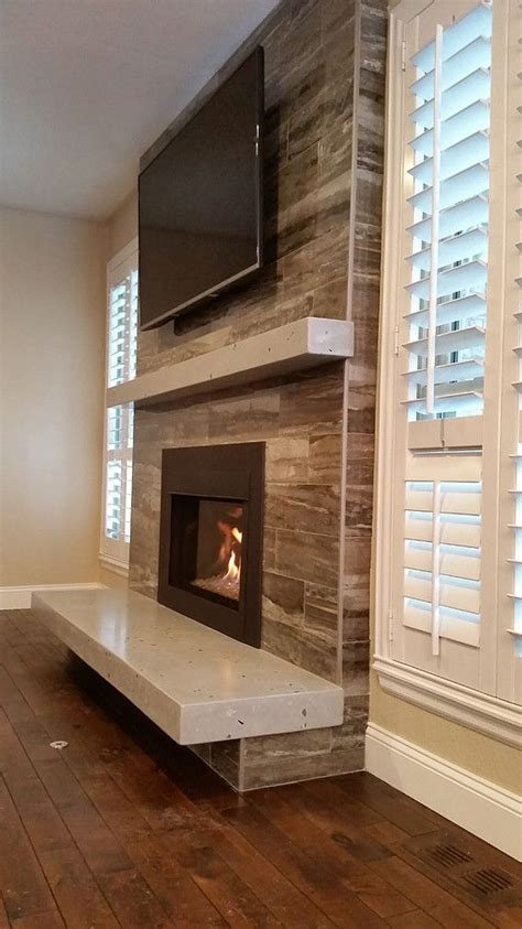 floating hearth fireplace remodel living room