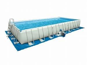 Piscine Hors Sol Rectangulaire Intex : tapis de sol pour piscine rectangulaire intex jardideco ~ Melissatoandfro.com Idées de Décoration
