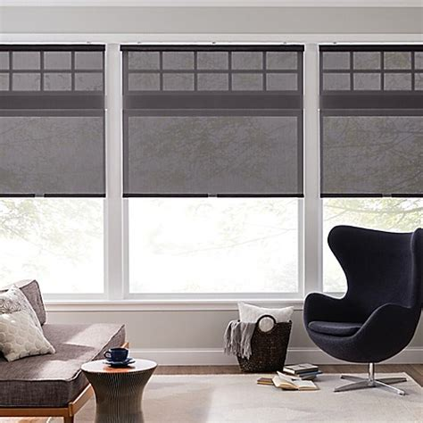real simple cordless  open solar roller shade bed
