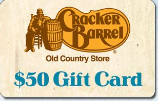 Check spelling or type a new query. Cracker Barrel $50 eGift   Gift Card Gallery