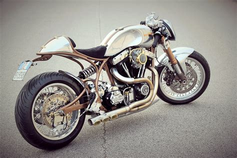 Low Blow. Fmw Motorcycle's 'hurakàn' Harley Cafe Racer