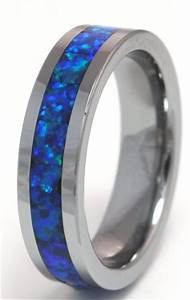 black opal engagement rings With black opal wedding rings