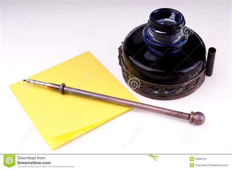 Quill And Inkwell Stock Image. Image Of Fashioned, Quill