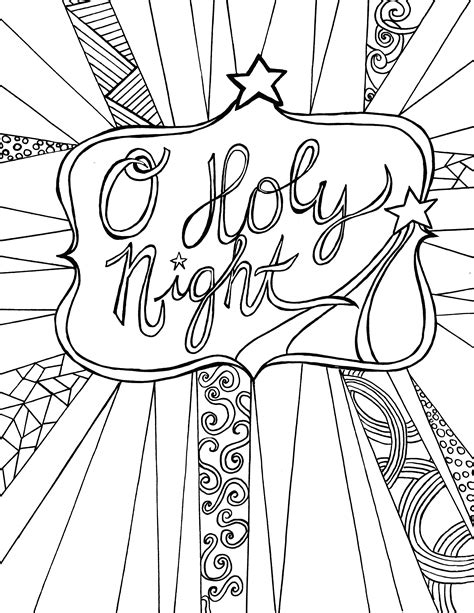 free adult printable coloring page o holy night the