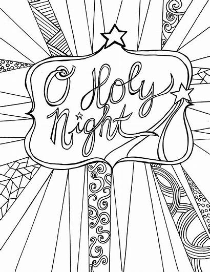 Coloring Adult Night Holy Activity Printable Sheet