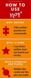 how to use quot nor quot correctly grammar