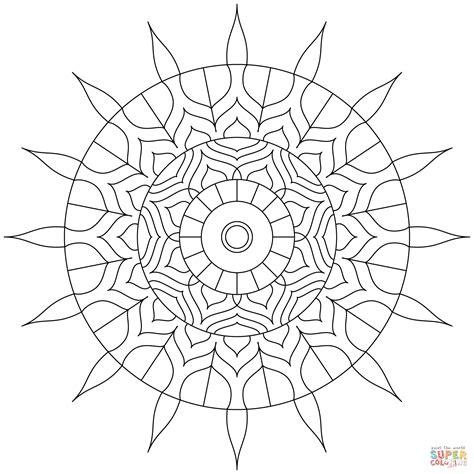 hindu mandala pages coloring pages