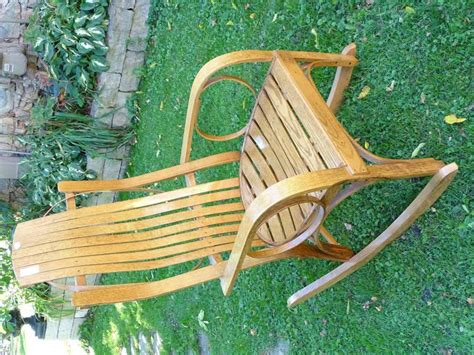 adirondack bent hickory rocking chair unsigned contemporary