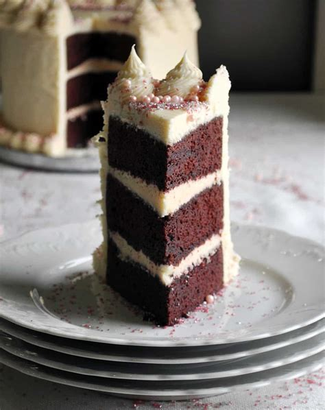 red velvet cake recipe triple layer  cream cheese