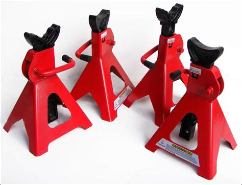 Lot Of 4 3 Ton Ratchet Type Car Jack Stands