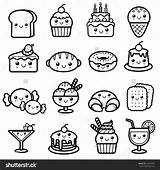 Coloring Dessert Shutterstock Vector Illustration 1600px 17kb 1500 sketch template