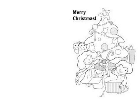 printable christmas cards coloring pages