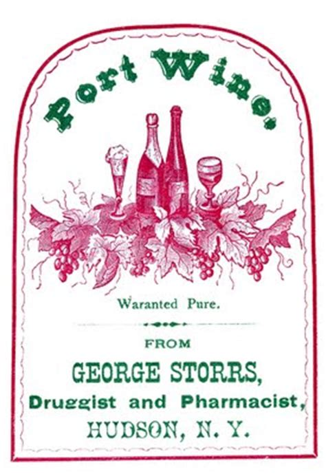 vintage clip art port wine label